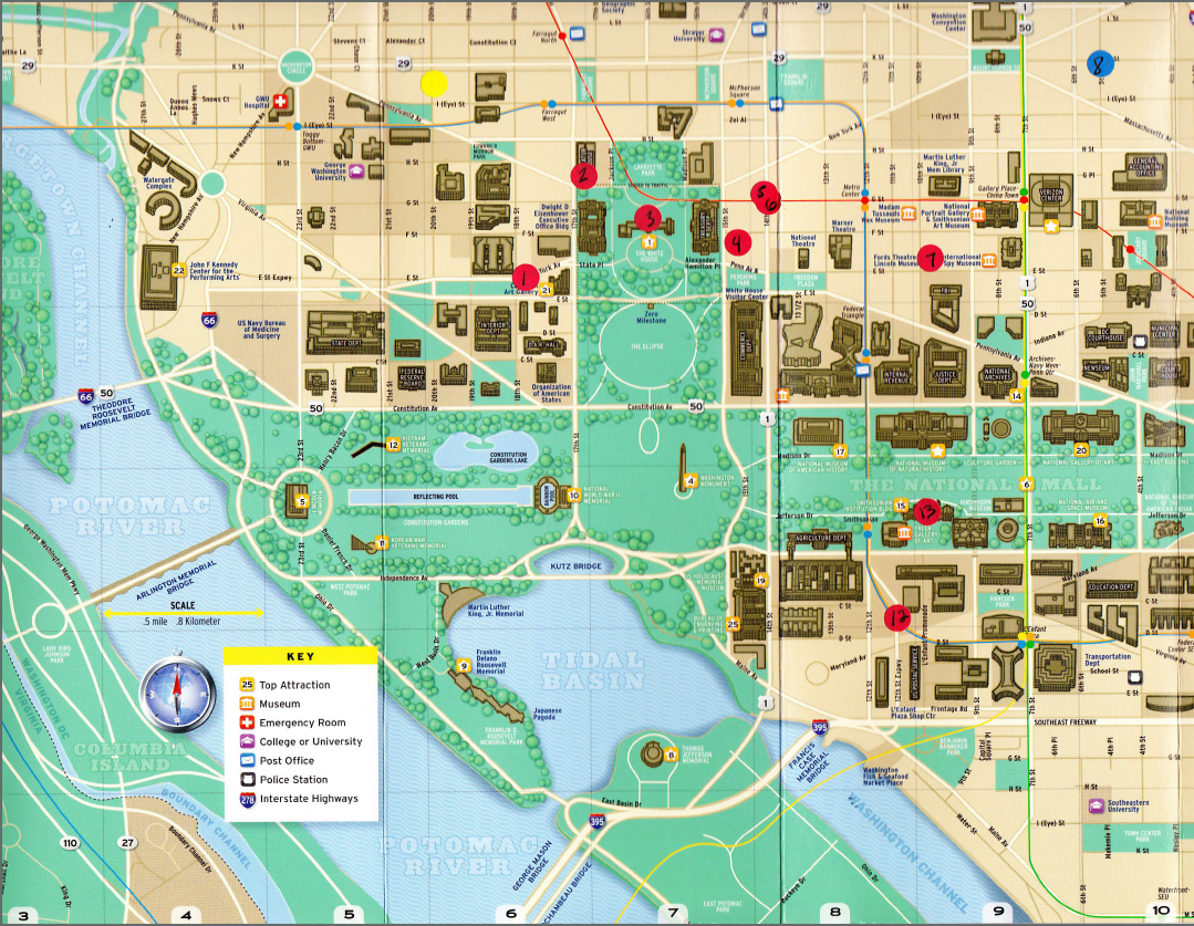 31 fantastic Map Of Washington Dc Monuments bnhspinecom